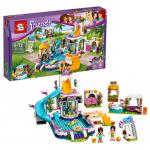 LEGO Friends เลโก้จีน SY 882 ชุด Heartlake Summer Pool