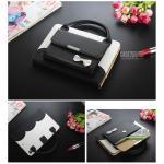 (สีดำ) เคสกระเป๋า Princess Series (เคส iPad mini 4)