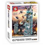 Super Heroes เลโก้จีน SY678 ชุด Attack on Avengers Tower