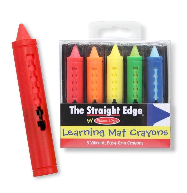 สีเทียนปลอดสารพิษล้างออกได้ Learning Mat Crayons - Wipe-off!