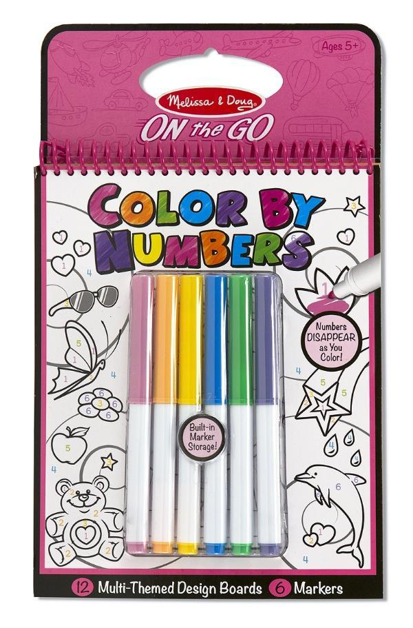 สมุดระบายสีแบบพกพา Melissa and Doug Color-By-Number -- Pink