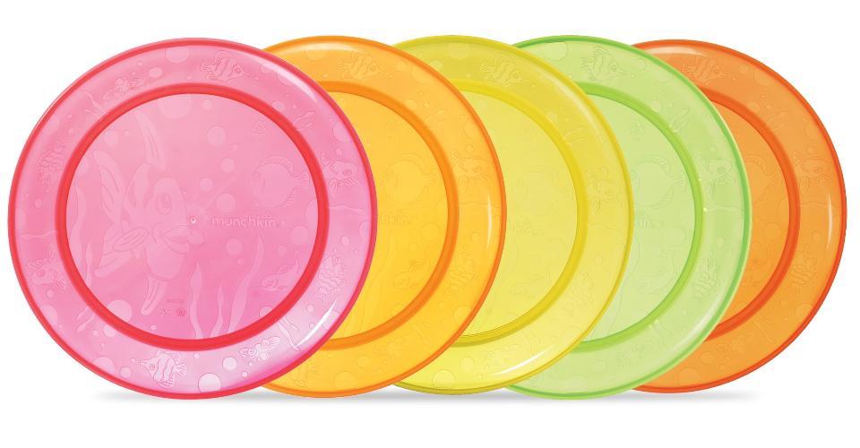 จานทานอาหารเด็กmunchkin แพ็ค 5 ใบ
