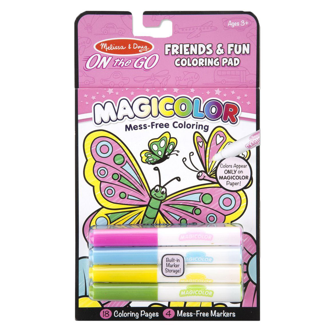 ชุดระบายสีแบบพกพา Melissa & Doug On the Go Magicolor Coloring Pad - Friends and Fun