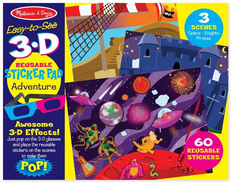 สติกเกอร์ลอกได้ Melissa and Doug Reusable 3D Reusable Sticker Pad - Adventure