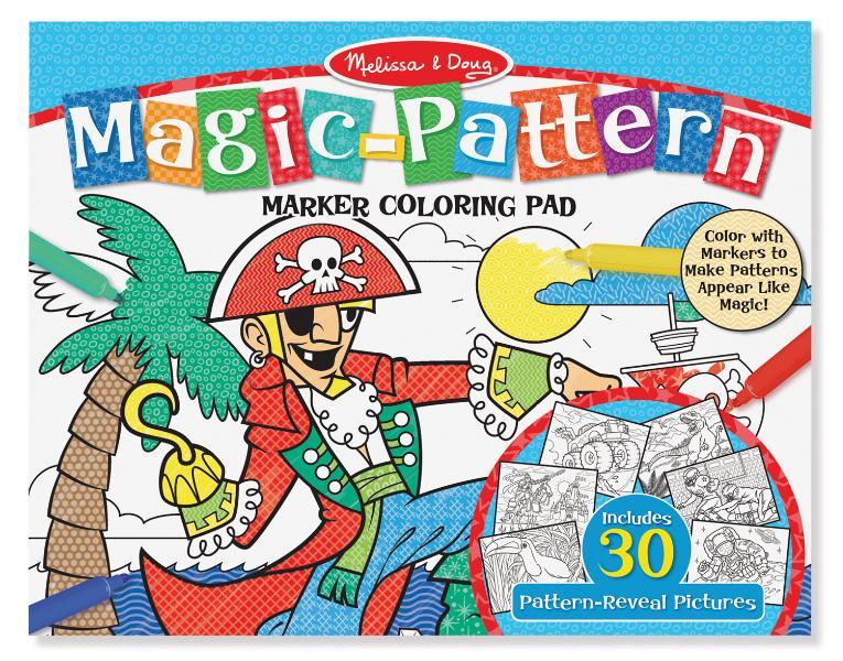 Magic Pattern Coloring Pad – Blue
