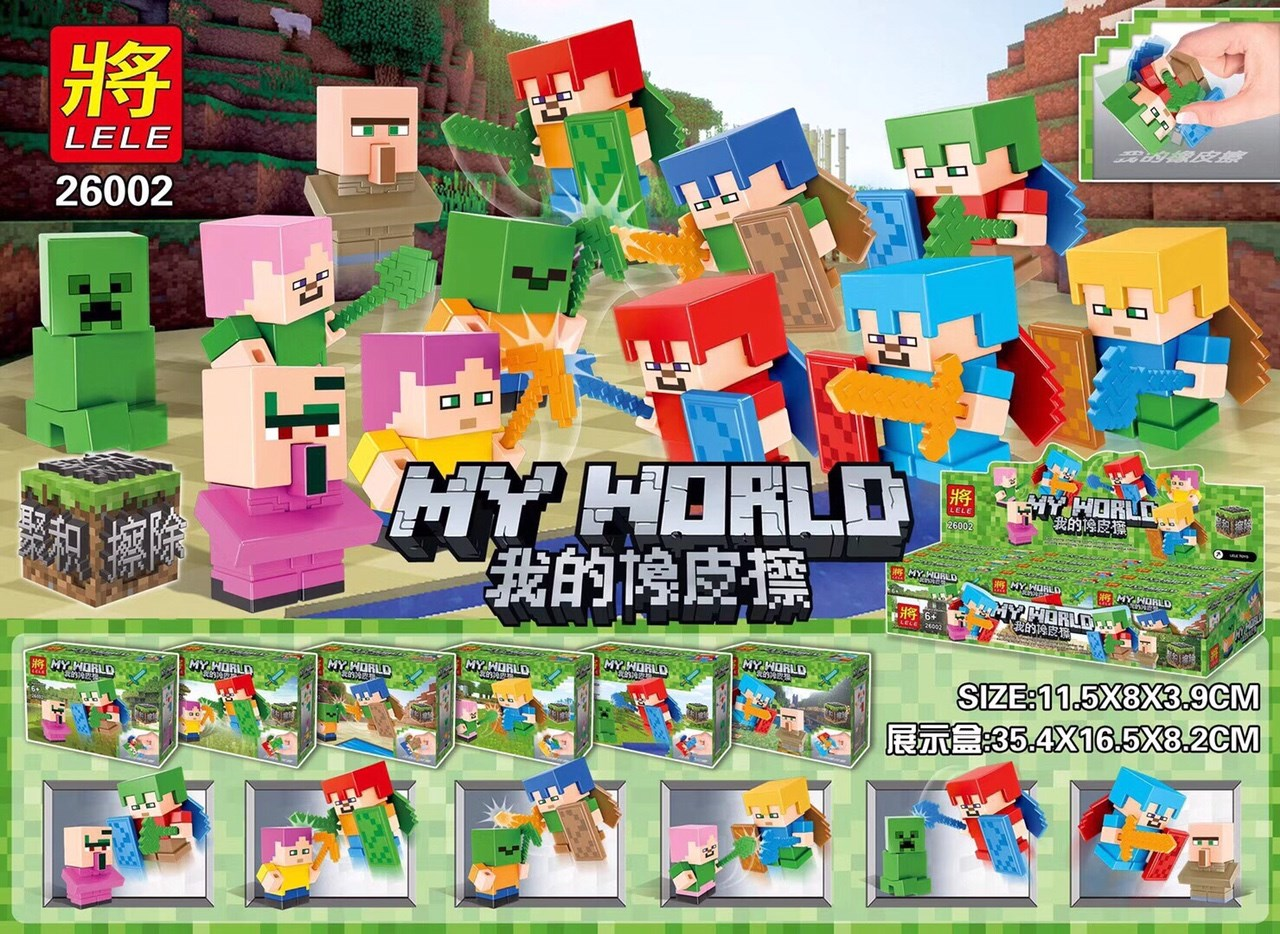 มินิฟิกเกอร์ LELE 26002 ชุด Minecraft 6 กล่อง