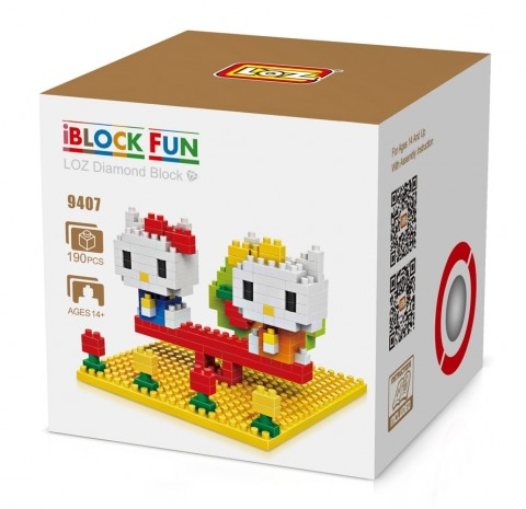 Loz 9407 Nanoblock : Hello Kitty