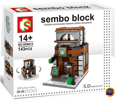 Sembo Block SD6013 ร้าน Starbucks