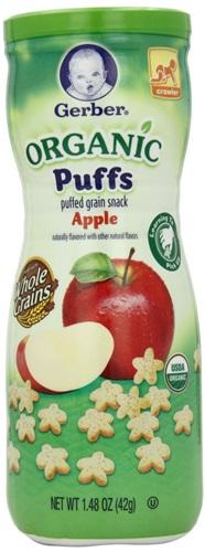 ขนมสำหรับเด็กGerber Graduates Puffs Cereal Snack, Organic Apple รสแอปเปิ้ลออแกนิกส์