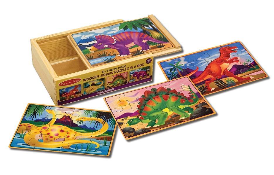 จิ๊กซอชิ้นใหญ่ Jigsaw Puzzle in a Box - 12 Pcs Dinosaurs