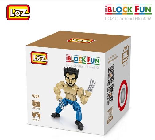 Loz Nanoblock : Wolverine No.9753