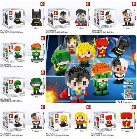 นาโนบล็อค : ชุด Super Heroes SD