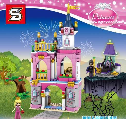 เลโก้จีน SY 986 Disney Princess ชุด Sleeping Beauty's Fairytale Castle