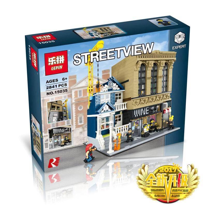 เลโก้จีน LEPIN 15035 ชุด Wine Bar and Financial Companies