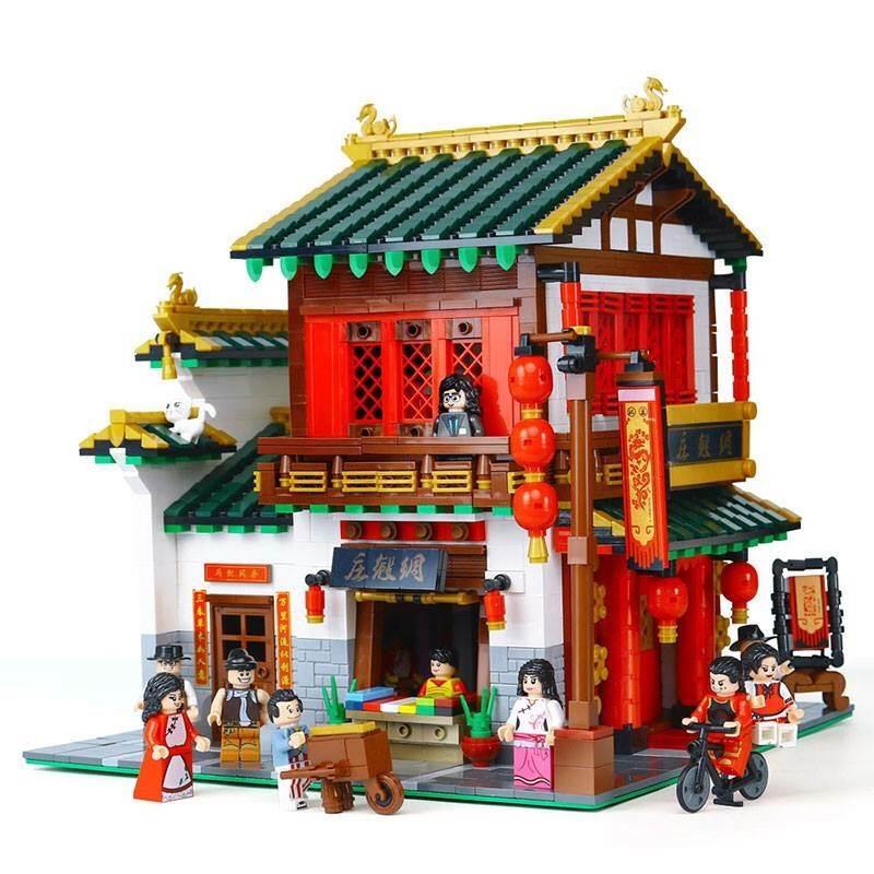 เลโก้จีน XB-01001 ชุด ร้านขายผ้าไหม ( 2787 ชิ้น )