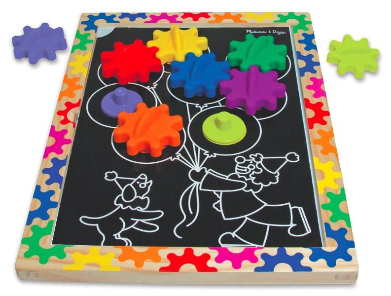 Melissa and doug Switch and Spin Magnetic Gear Board ของเล่นเกียร์