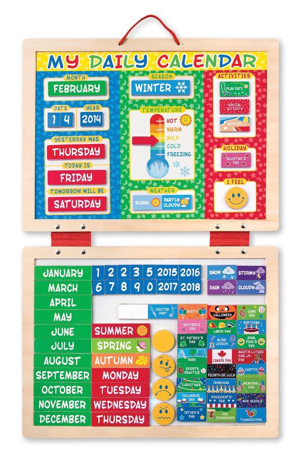 ปฏิทินสำหรับเด็ก My First Daily Magnetic Calendar