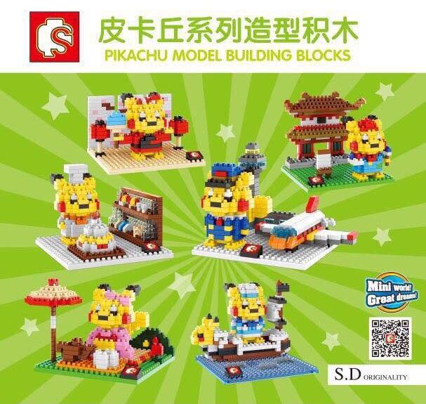 Nanoblock : Pikachu &#x2605 L