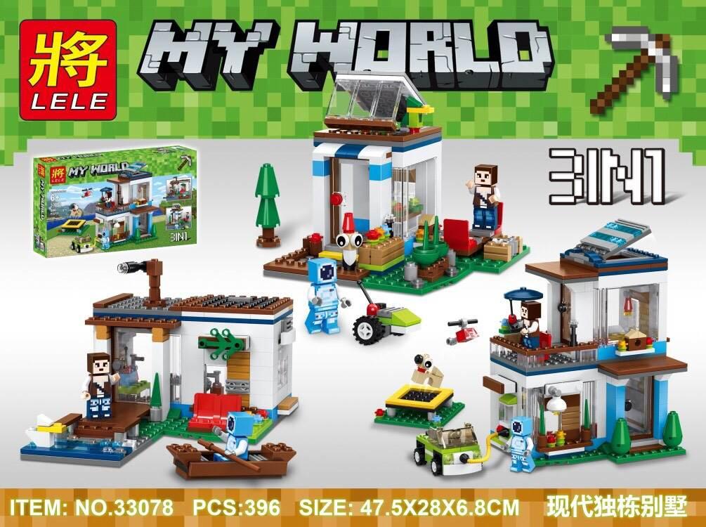 เลโก้จีน LELE 33078 ชุด Minecraft 3 IN 1