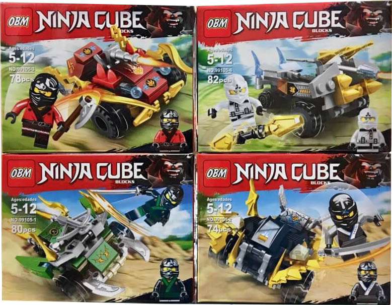 เลโก้จีนชุดเล็ก OBM 99105 ชุด Ninja Go 4 กล่อง
