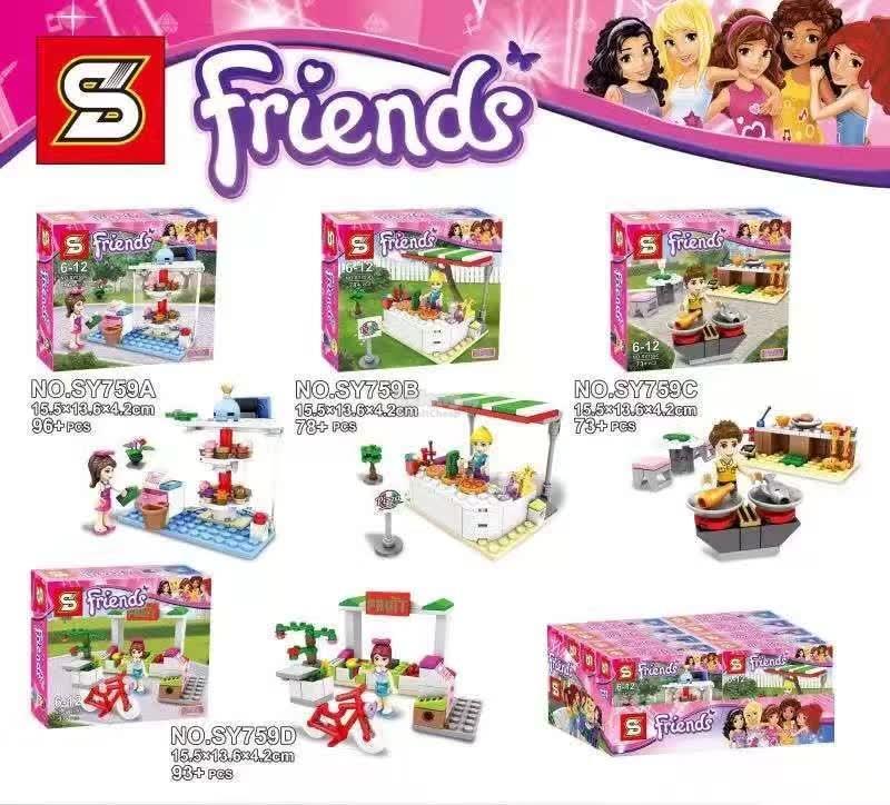 เลโก้จีนชุดเล็ก SY Friends 759 ชุด 4 กล่อง