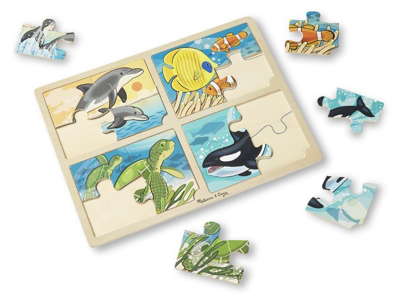 จิ๊กซอชิ้นใหญ่ 4-in-1 Safari Jigsaw Puzzle