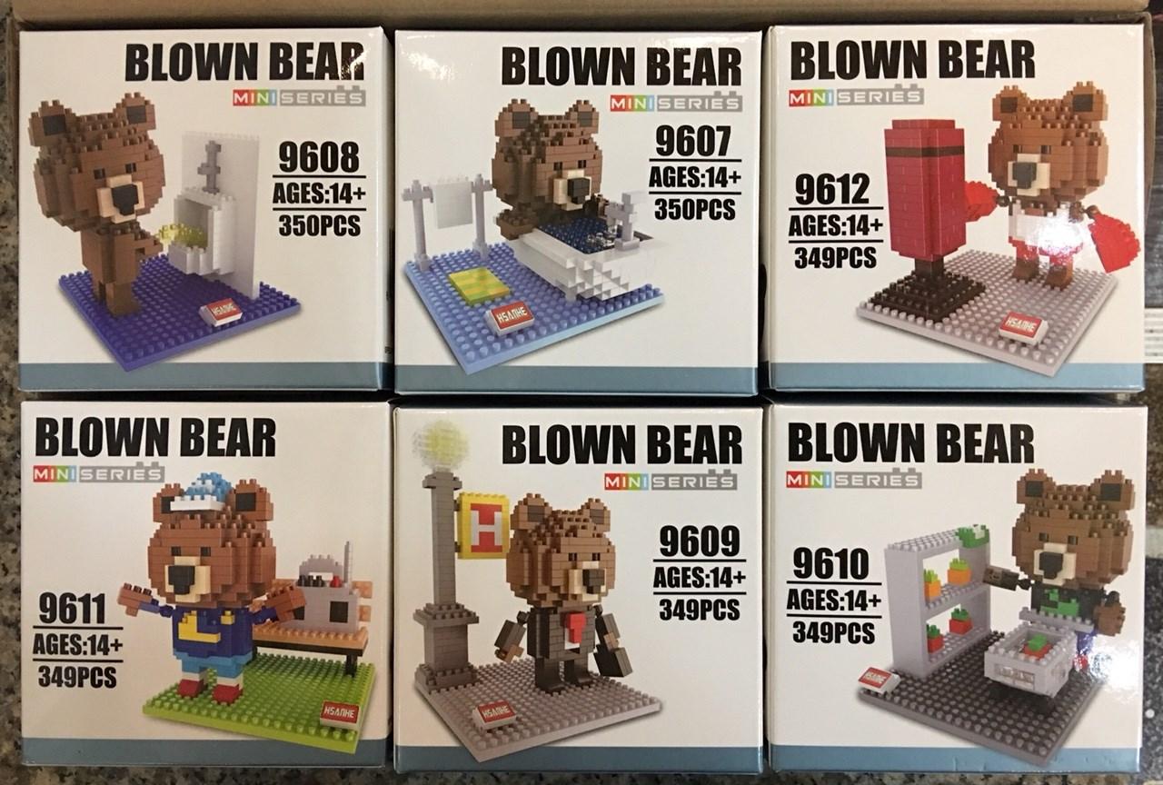 Nanoblock : หมีบราวน์ 6 กล่อง
