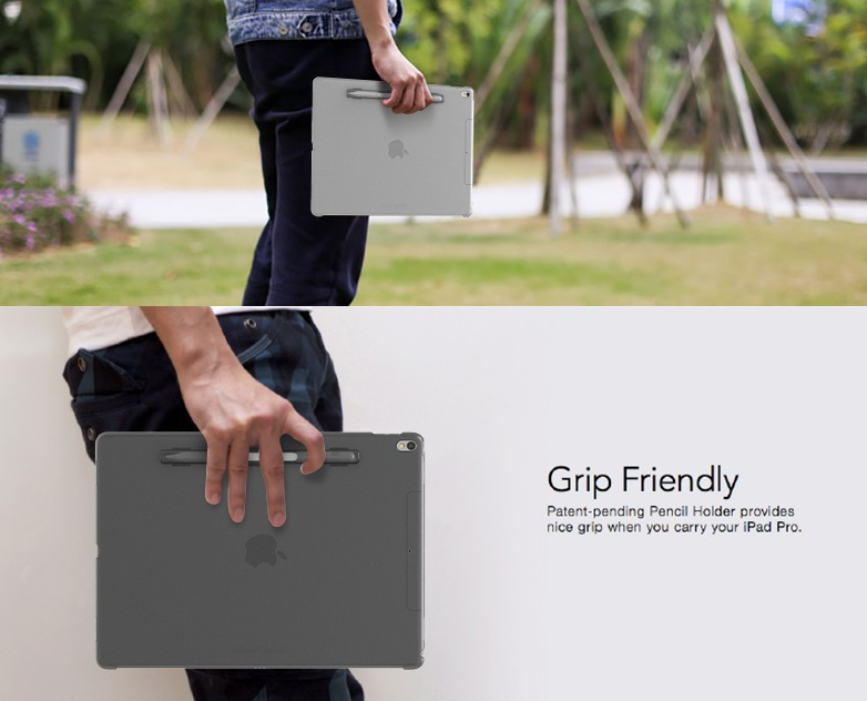 Cover buddy by Switcheasy งานแท้ มีที่เสียบปากกา Apple Pencil - เคส iPad Pro 12.9 (Gen2 2017))