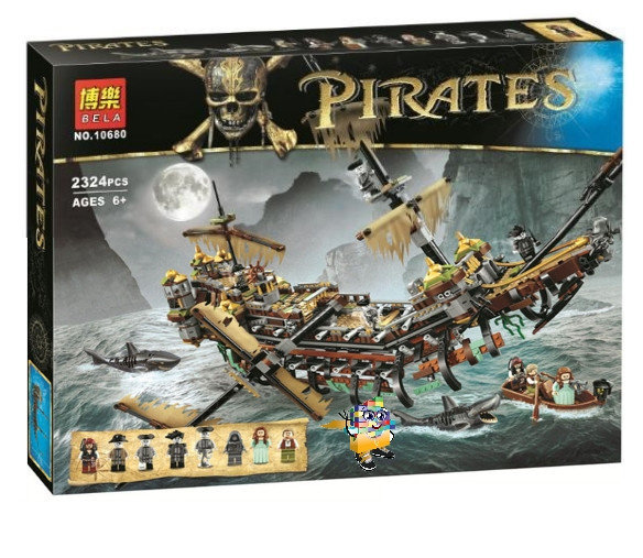 เลโก้จีน BELA 10680 Pirates of the Caribbean ชุด Silent Mary