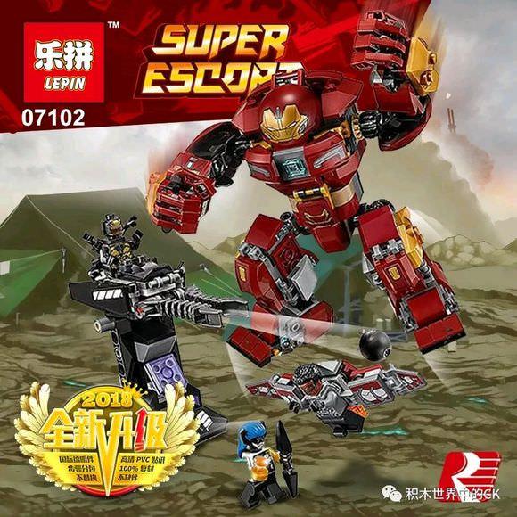 เลโก้จีน LEPIN 07102 Super Heroes Avengers : The Hulkbuster Smash-Up