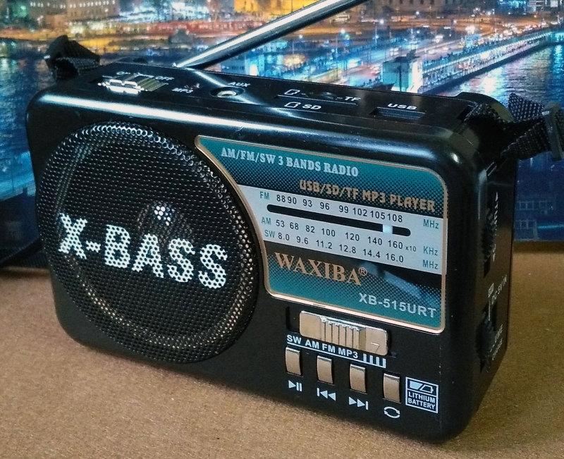 วิทยุพกพา WAXIBA XB-515URT สีดำ (ใหญ่เท่ากับรุ่น 521)