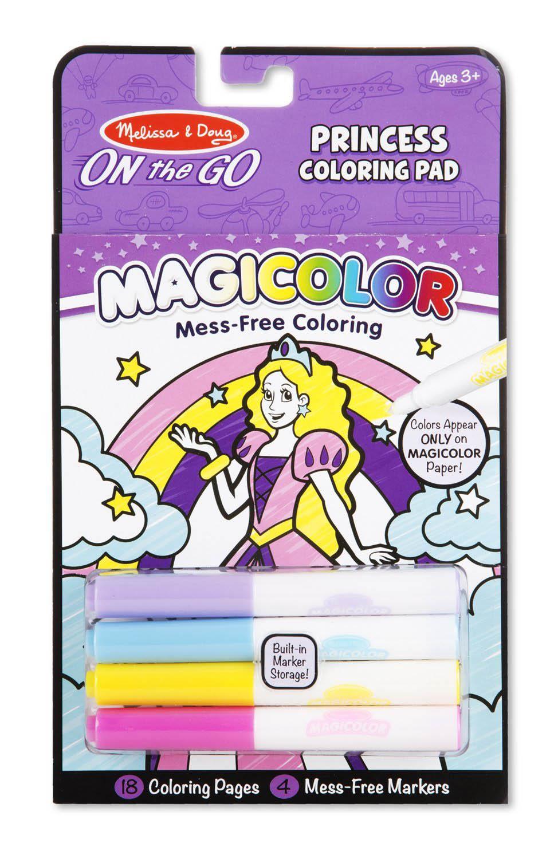 ชุดระบายสีแบบพกพา Melissa & Doug On the Go Magicolor Coloring Pad - Princess