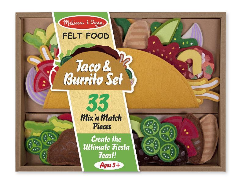 Felt Food Taco & Burrito Set