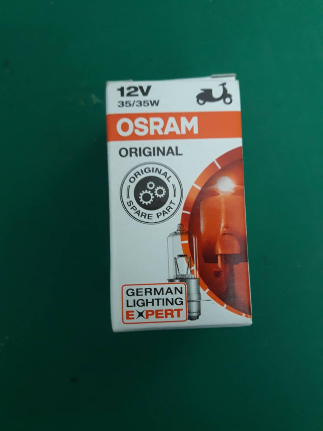 หลอดไฟหน้า 12V 35/35W T19 62337RV ยี่ห้อ OSRAM (Standard)