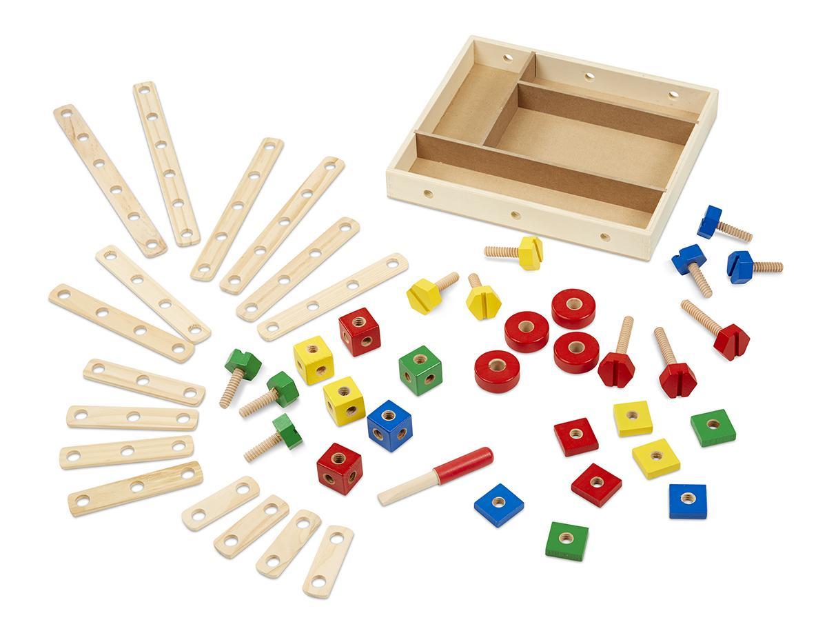 ตัวต่อไม้ Melissa and doug Construction Set in a Box