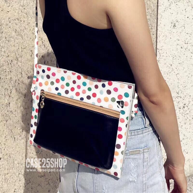 เคสกระเป๋าสะพาย ลายจุด Fashion Polka Dot (เคส iPad Air 2)