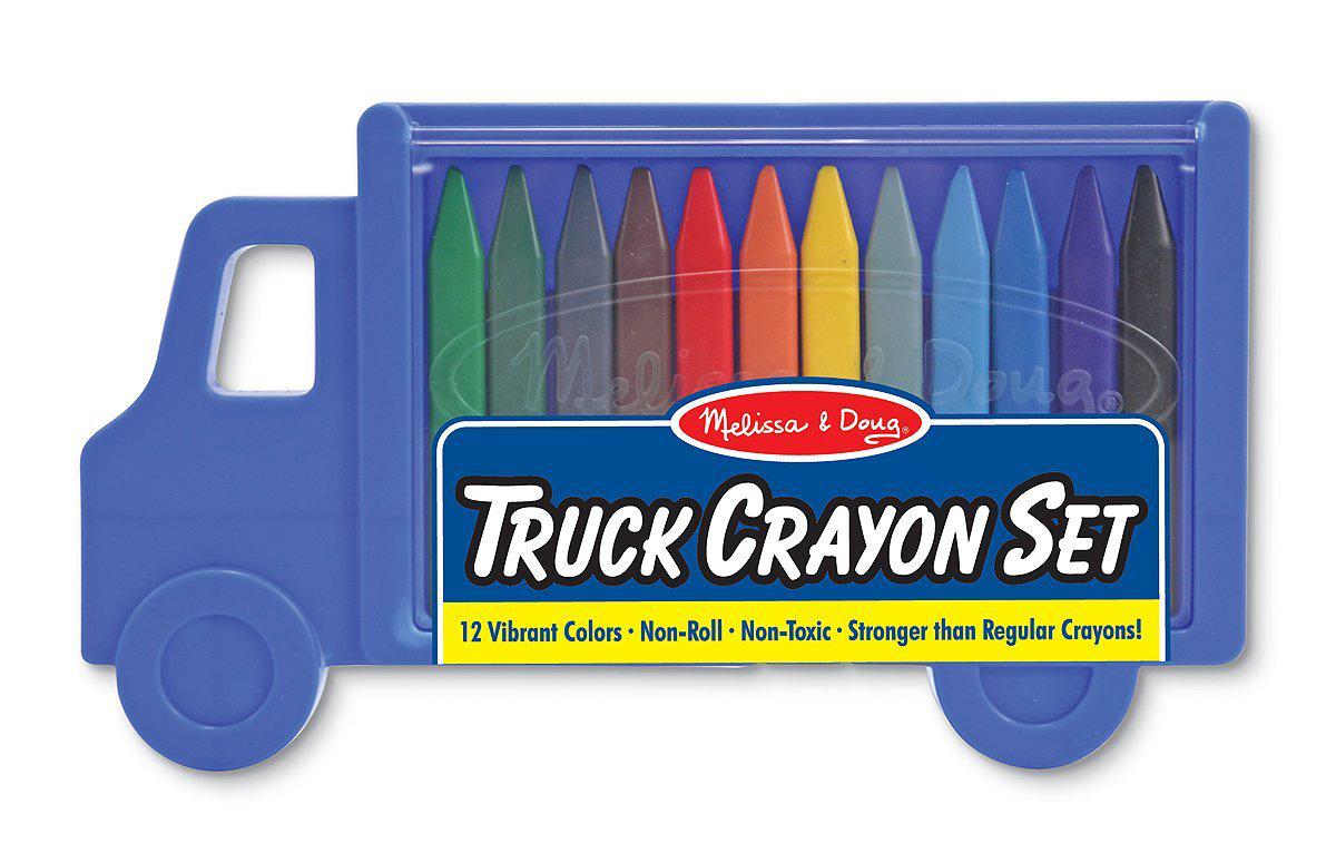 Melissa And Doug Truck Crayon Set สีเทียนปลอดสารพิษ 12 สี ++ พร้อมส่ง++