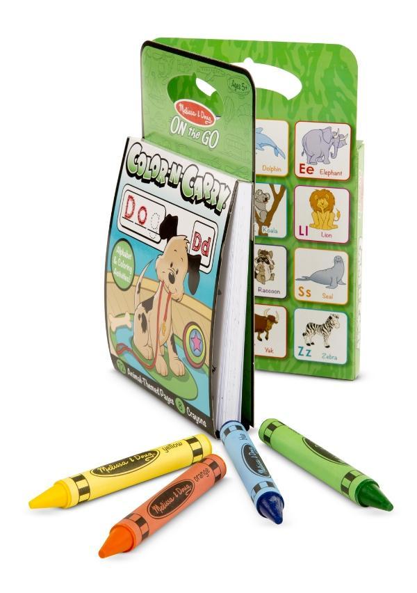 สมุดระบายสีแบบพกพา Melissa and Doug Color N' Carry Activity Set - Animals