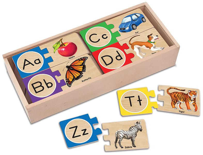 ตัวต่อไม้ตัวอักษร A-Z Melissa and doug Self-Correcting Alphabet Puzzle