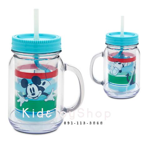 แก้วน้ำลาย Mickey Mouse พร้อมหลอด Disney USA