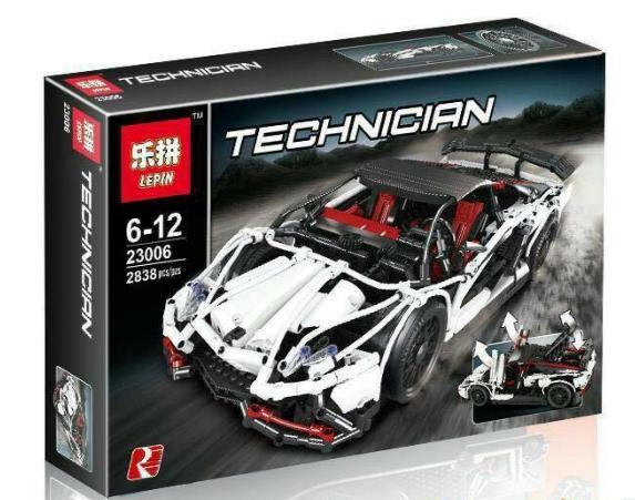 เลโก้จีน LEPIN 23006 ชุด MOC- Lamborghini Gallardo Super Trofeo Stradale (White)
