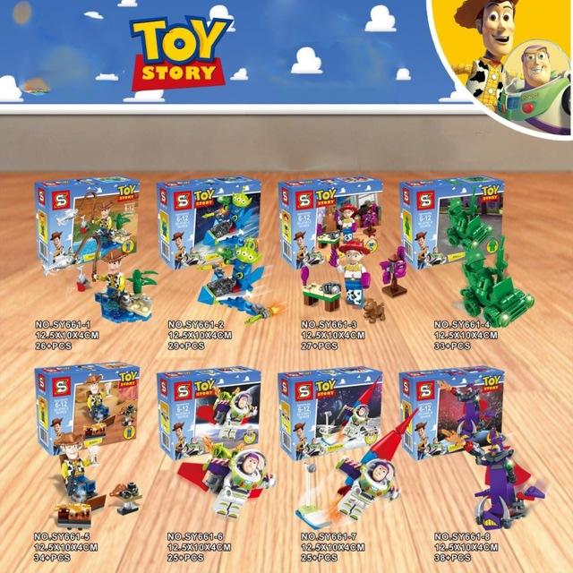เลโก้จีน SY 661 Toy Story ชุด 8 กล่อง
