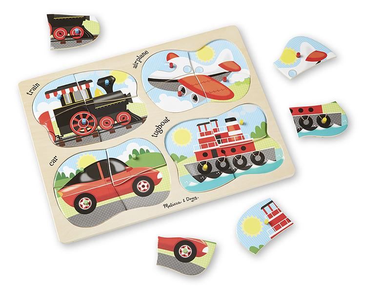 จิ๊กซอ 4-in-1 Peg Puzzle - Vehicles