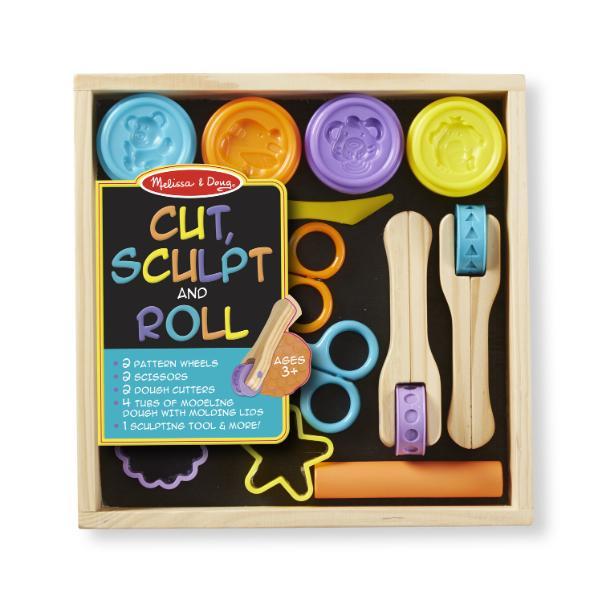 ชุดดินน้ำมันปลอดสารพิษพร้อมอุปกรณ์ Melissa and doug Cut Sculp & Roll
