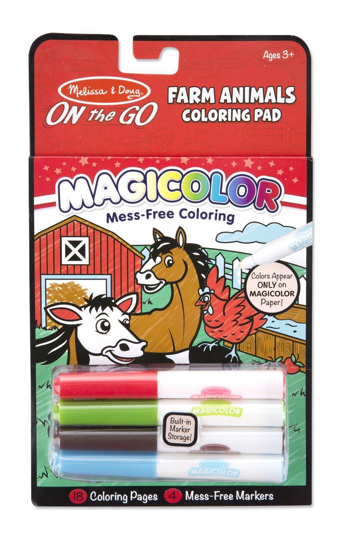 ชุดระบายสีแบบพกพา Magicolor Coloring Pad Farm Animals