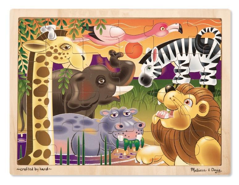 จิ๊กซอชิ้นใหญ่ Wooden Jigsaw Puzzle - 24 piece Africa