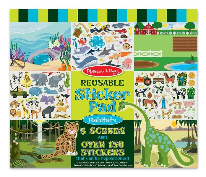 Melissa & Doug Habitats Reusable Sticker Pad สมุดสติกเกอร์แบบลอกได้