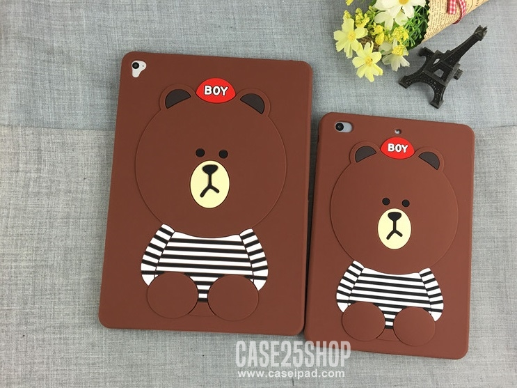 เคสซิลิโคนหมี Brown (เคส iPad Pro 10.5)