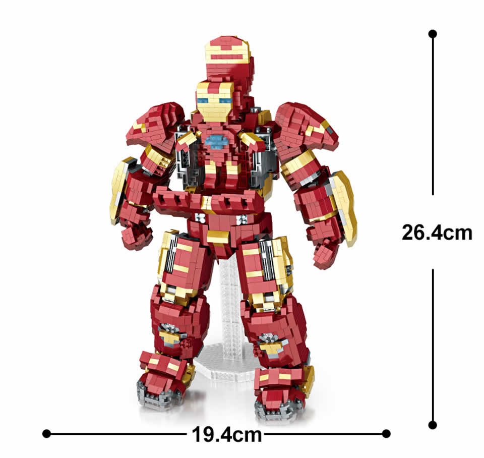 LOZ 9045 นาโนบล็อค Hulk Buster - เลโก้จีน ตัวต่อเลโก้จีน นาโนบล็อค ...