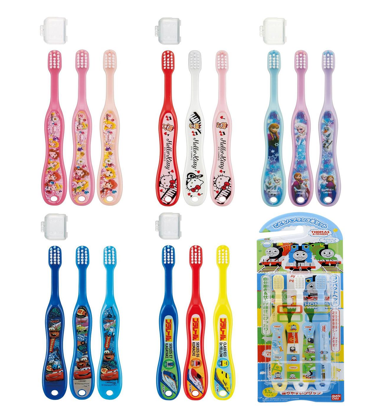 ชุดเซ็ทแปรสีฟันสำหรับเด็ก 3 ชิ้น [JAPAN]